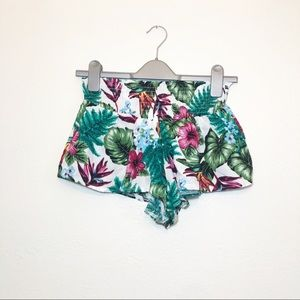 Seek The Label Tropical Smocked Swing Short Small